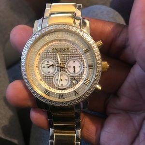Akribos XXIV Grandiose Mens Gold Watch